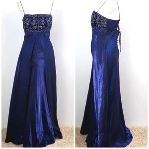 Kiki USA women's Blue Prom Formal Dress